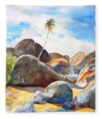 The Baths Palm Tree Fleece Blanket