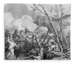 The Battle Of Bull Run Fleece Blanket