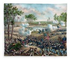 The Battle Of Cold Harbor Fleece Blanket