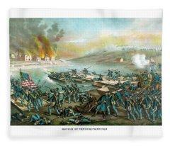 The Battle Of Fredericksburg Fleece Blanket