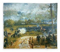 The Battle Of Kenesaw Mountain Fleece Blanket