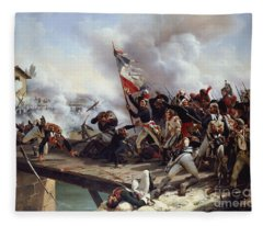 The Battle Of Pont D'arcole Fleece Blanket
