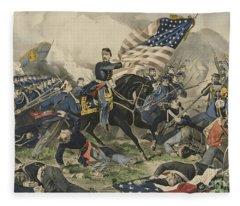 The Battle Of Williamsburg, Virginia On May 5th 1862 Fleece Blanket