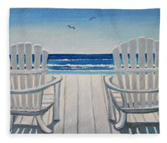 The Beach Chairs Fleece Blanket