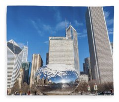 The Bean And The City Fleece Blanket