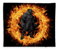 The Beast Emerges From The Ring Of Fire Fleece Blanket