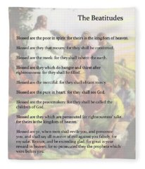 The Beatitudes Fleece Blanket