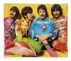 The Beatles Sgt. Pepper's Lonely Hearts Club Band Painting 1967 Color Fleece Blanket