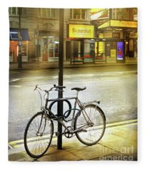 The Beautiful Bicycle Fleece Blanket