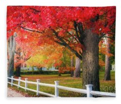 The Beauty Of Autumn In New England Fleece Blanket