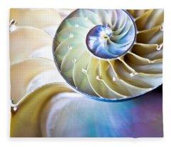 The Beauty Of Nautilus Fleece Blanket