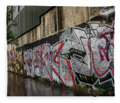 The Belfast Peace Wall Fleece Blanket