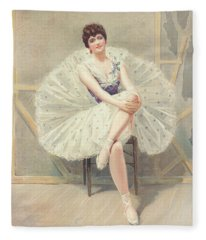 The Belle Of The Ballet, 1899 Fleece Blanket