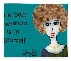 The Best Investment Is In Yourself Fleece Blanket