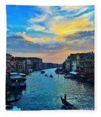 The Best Photo Of Venice Fleece Blanket