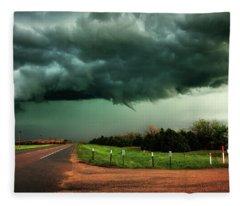 The Birth Of A Funnel Cloud Fleece Blanket