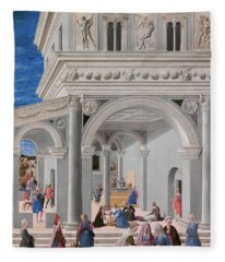 The Birth Of The Virgin, 1467 Fleece Blanket