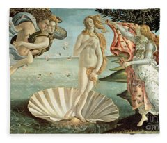 The Birth Of Venus Fleece Blanket