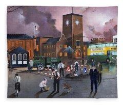 Dudley Trolley Bus Terminus 1950's Fleece Blanket