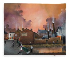 The Black Country Village Fleece Blanket