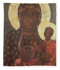 The Black Madonna Of Jasna Gora Fleece Blanket