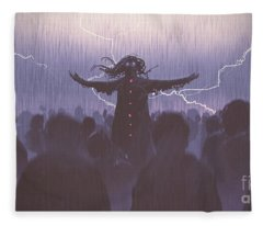 The Black Wizard Fleece Blanket