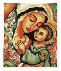 The Blessed Mother Fleece Blanket
