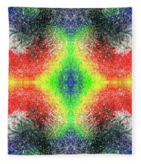 The Blossoms Of The Chakras #1487 Fleece Blanket