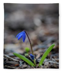 The Blue Flower Fleece Blanket