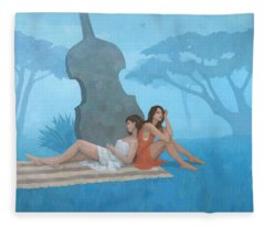 The Blue Garden Fleece Blanket