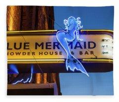 The Blue Mermaid Fleece Blanket