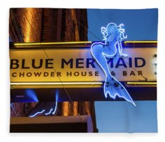 The Blue Mermaid Fleece Blanket