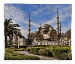 The Blue Mosque In Istanbul Turkey Fleece Blanket