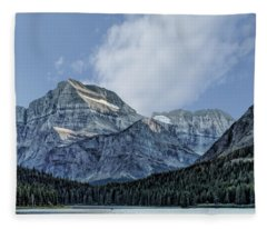 The Blue Mountains Of Glacier National Park Fleece Blanket