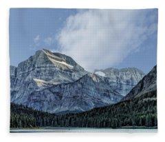 The Blue Mountains Of Glacier National Park Fleece Blanket