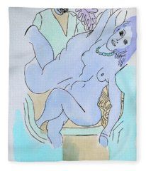 The Blue Nude Fleece Blanket