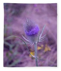 The Blue Softness Of A Teasel Fleece Blanket