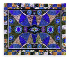 The Blue Vibrations Fleece Blanket