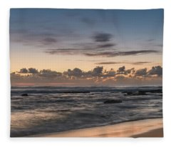 The Blues - Sunrise Seascape  Fleece Blanket