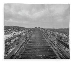 The Boardwalk To The Shore  Fleece Blanket