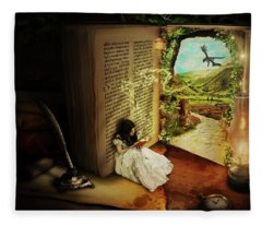 The Book Of Secrets Fleece Blanket