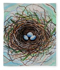 The Botanical Bird Nest Fleece Blanket