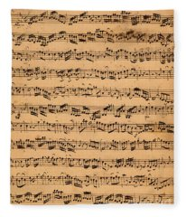 Music Drawings Fleece Blankets