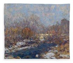 The Bridge  Garfield Park  By William J  Forsyth Fleece Blanket