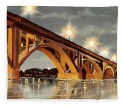 The Bridge On The River Fleece Blanket