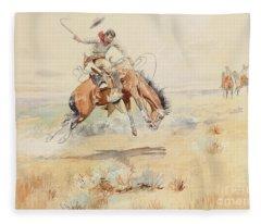 The Bronco Buster Fleece Blanket