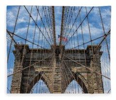 The Brooklyn Bridge Fleece Blanket