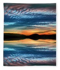The Brush Strokes Of Evening Fleece Blanket