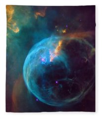 The Bubble Nebula Ngc 7653 Fleece Blanket