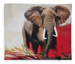 Win Win - The  Bull Elephant  Fleece Blanket